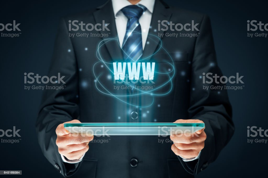 World wide web and SEO stock photo