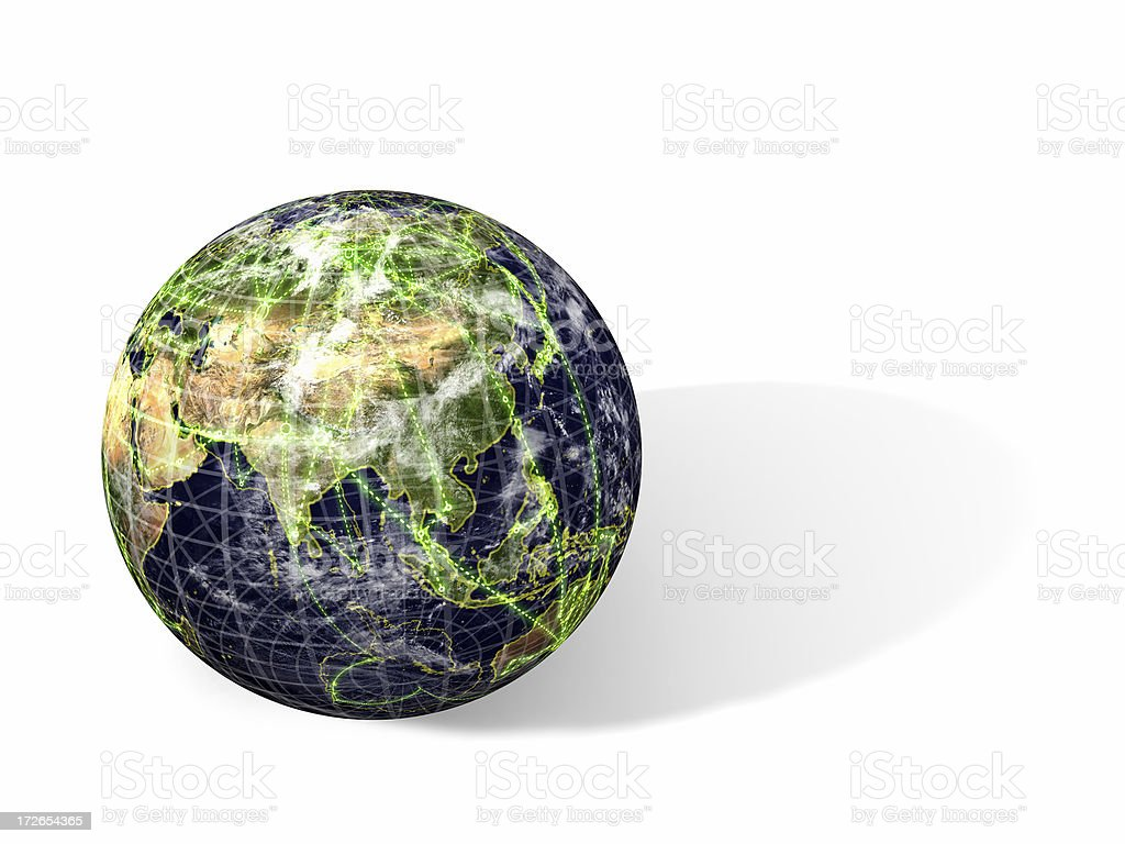 World Wide Web: Asia stock photo