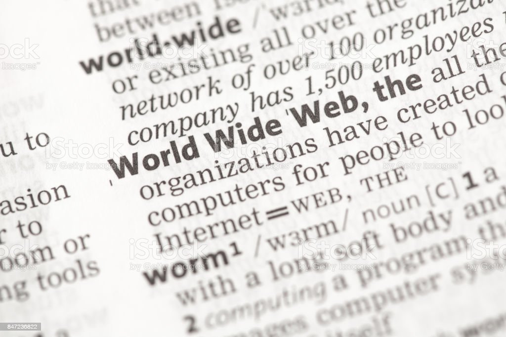 World Wide Web definition stock photo