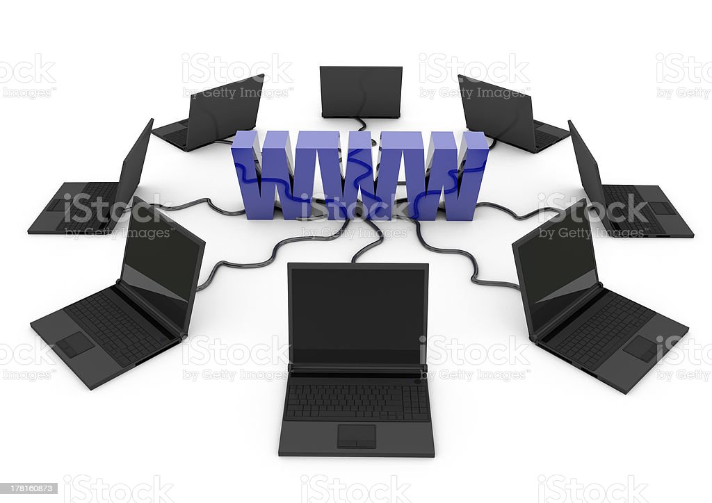 World Wide Web with laptop computer royalty-free stock photo