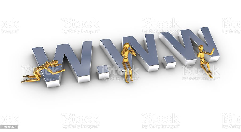 World wide web www concept royalty-free stock photo