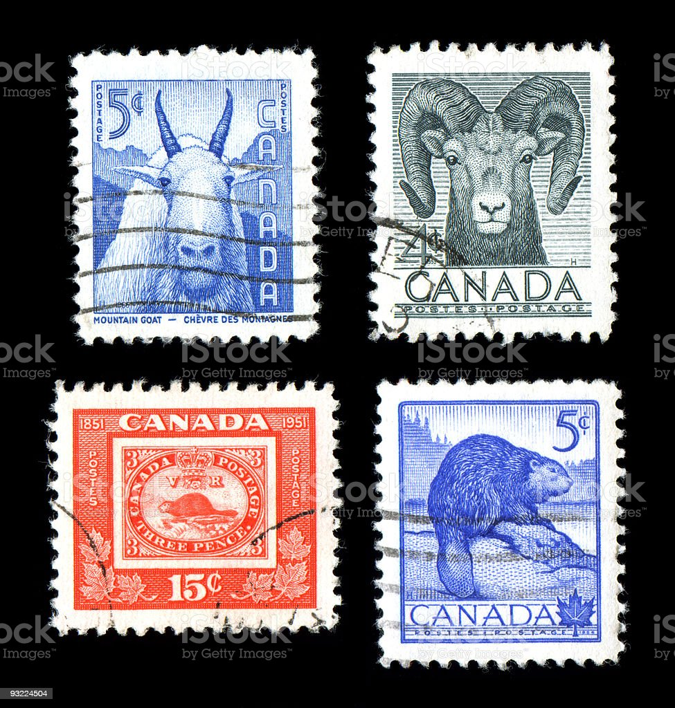 World Wildlife Stamps royalty-free stock photo