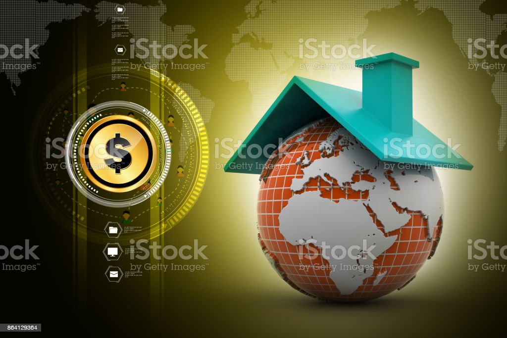 World with roof royalty-free stock photo