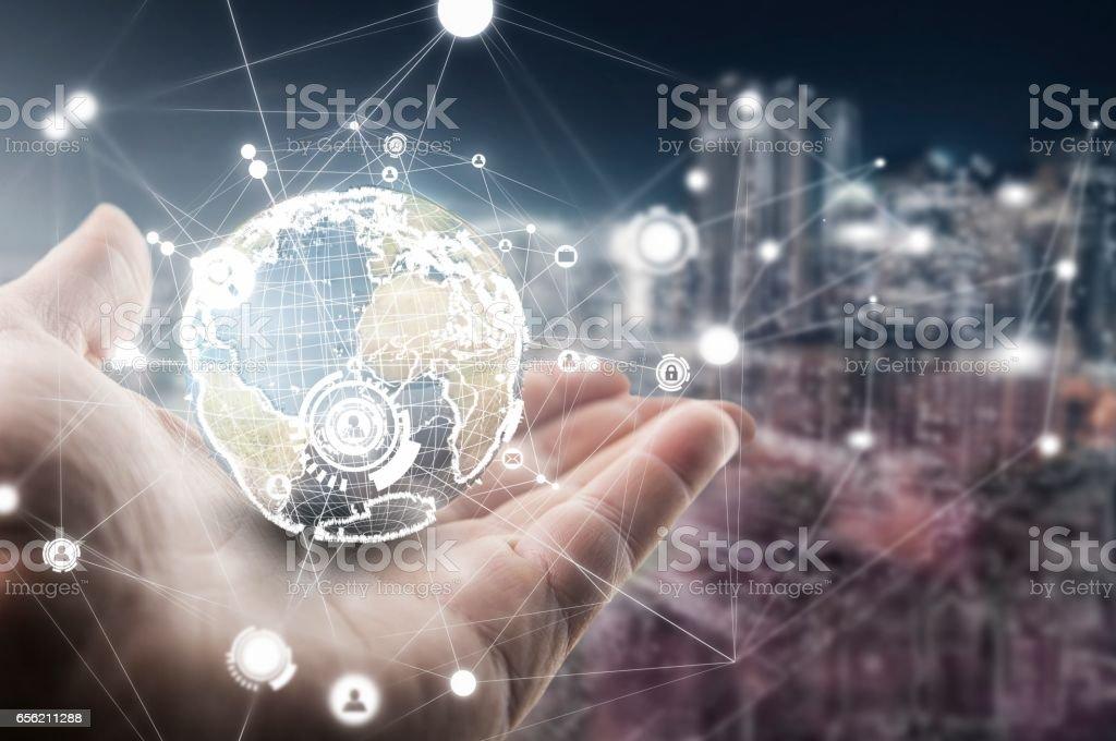 Welt mit Technologie – Foto