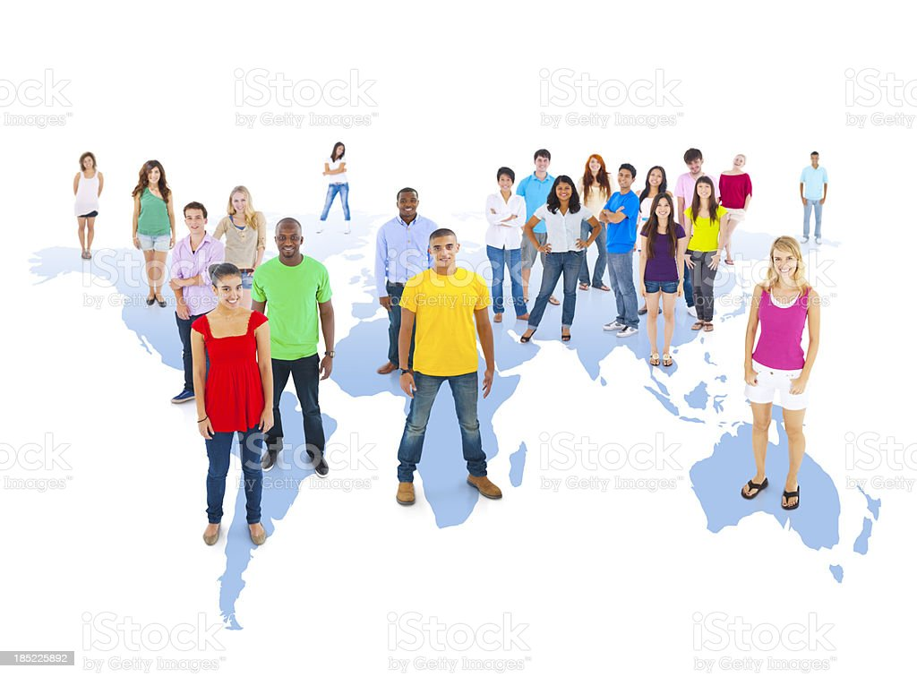 World Young People. royalty-free stock photo