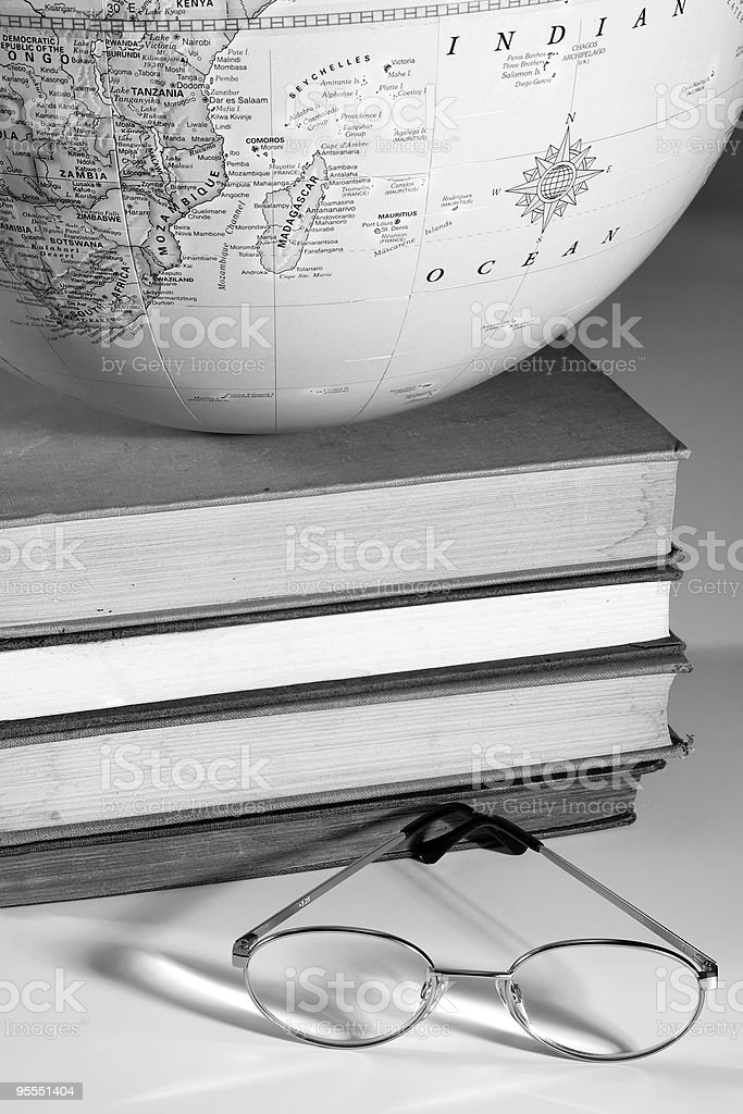 Worldly education stock photo
