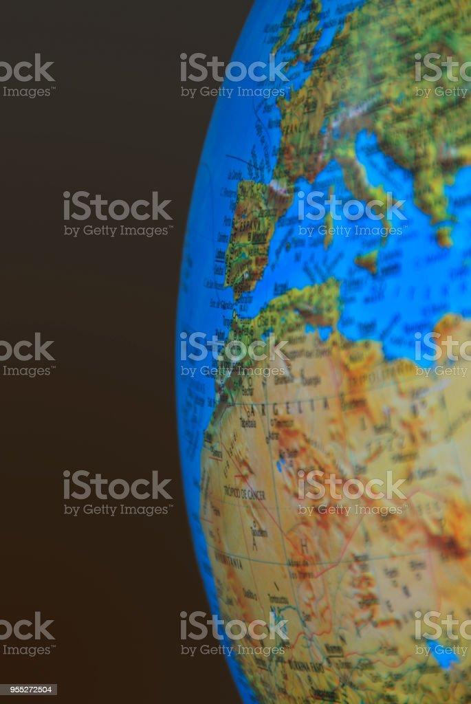 Worldmap Spain2 stock photo
