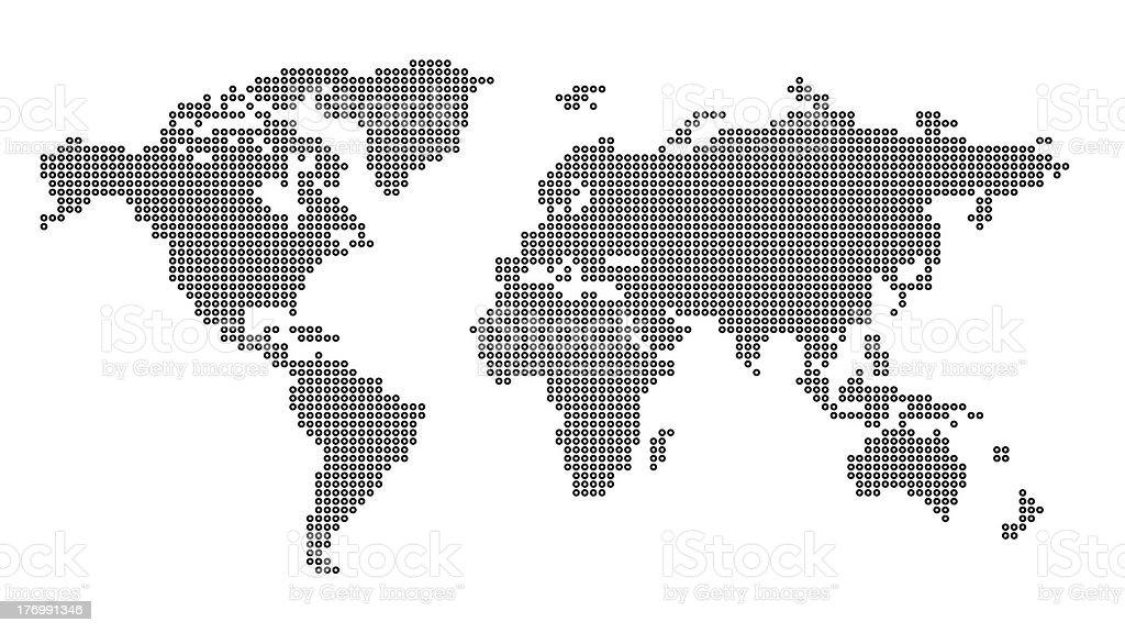 Worldmap white stock photo