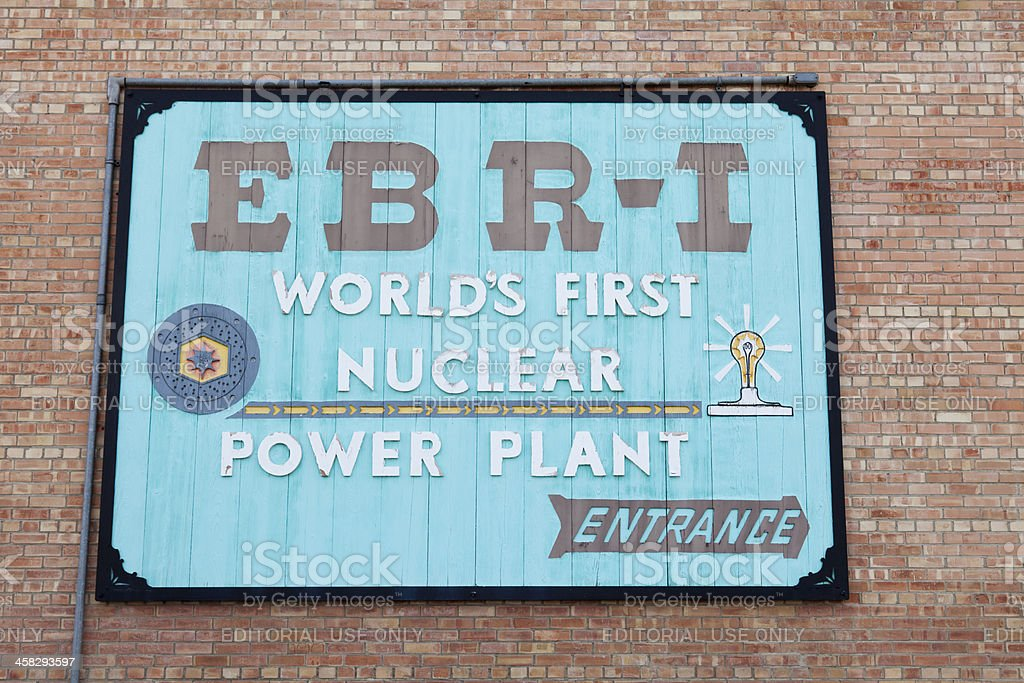 EBR-1 World's First Nuclear Power Plant stock photo