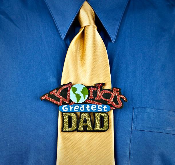 world s greatest dad - krawattennadel stock-fotos und bilder