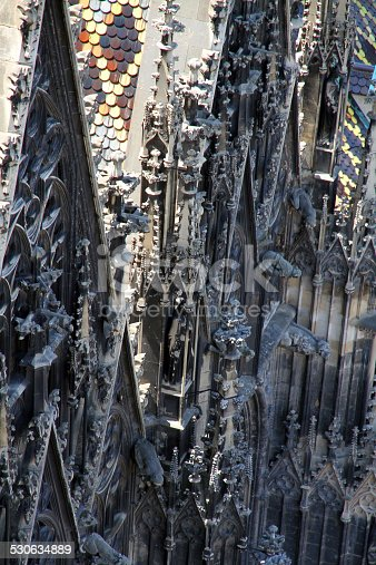 St. Stephens Cathedral (Stephansdom) in the center of Vienna in Austria