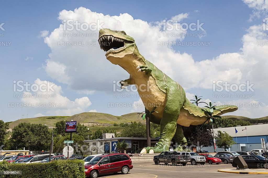 World's Largest Dinosaur in Drumheller, Canada stock photo