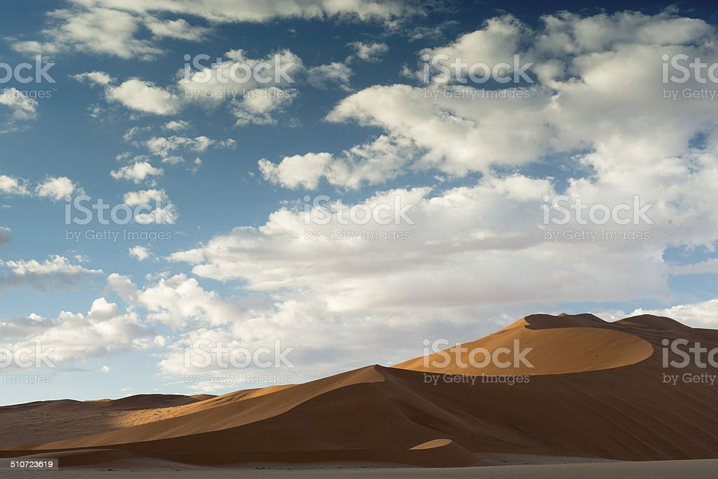 Worlds largest sand dunes at Sossusvlei Africa stock photo