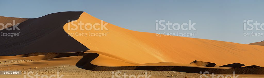 Worlds largest sand dunes at Sossusvlei, Namibia, Africa. stock photo
