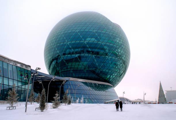 World`s largest Sphere, symbol of Kazakhstan. stock photo