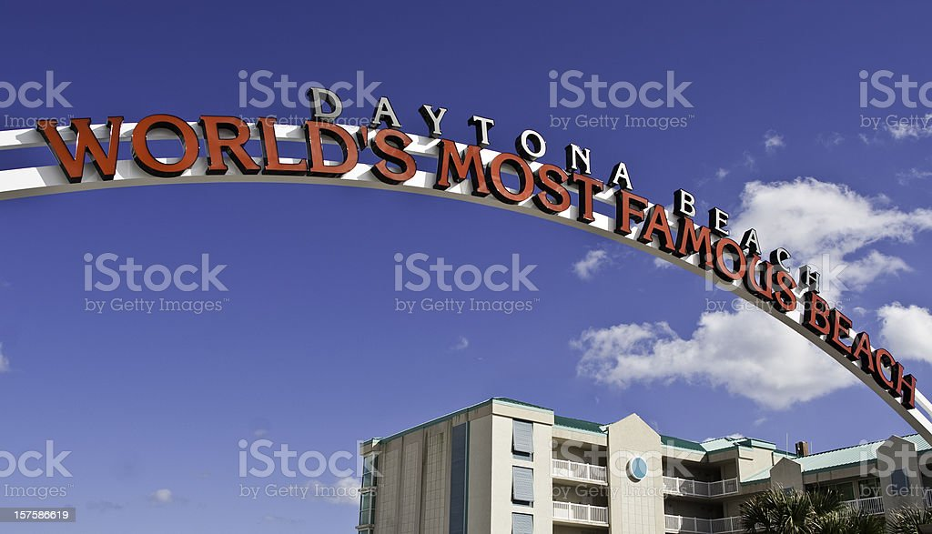 World's Most Famous Beach stock photo