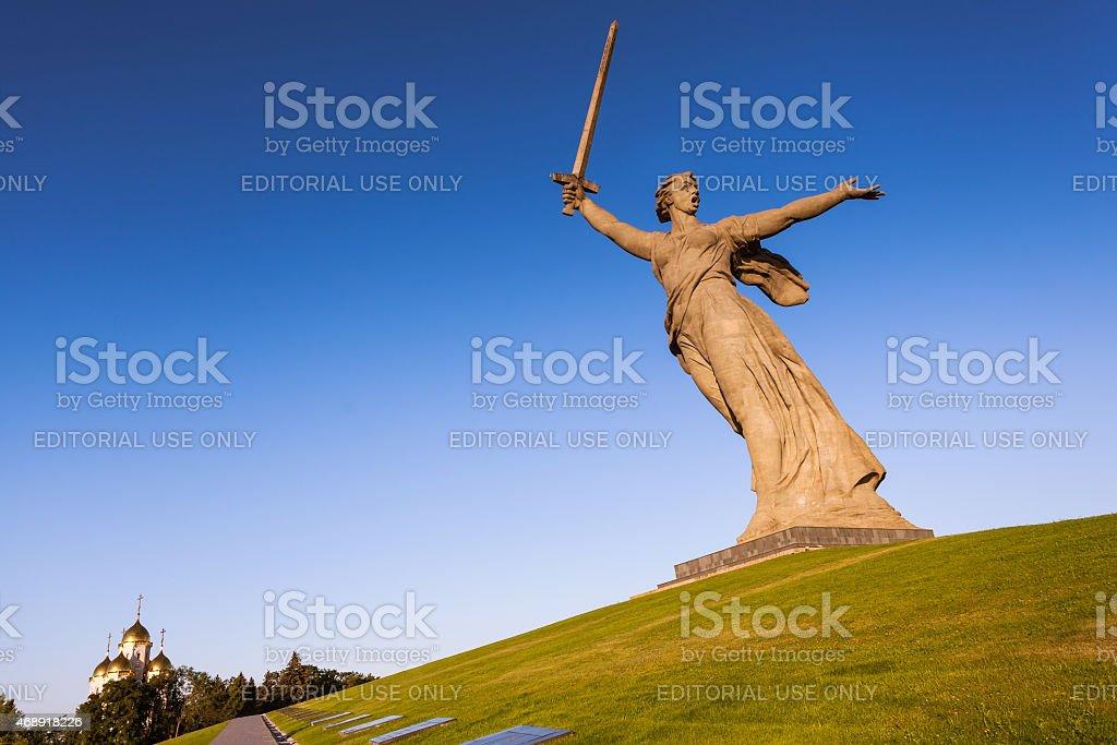 WorldWarII 'Motherland calls' memorial in Volgorad (former Stali stock photo