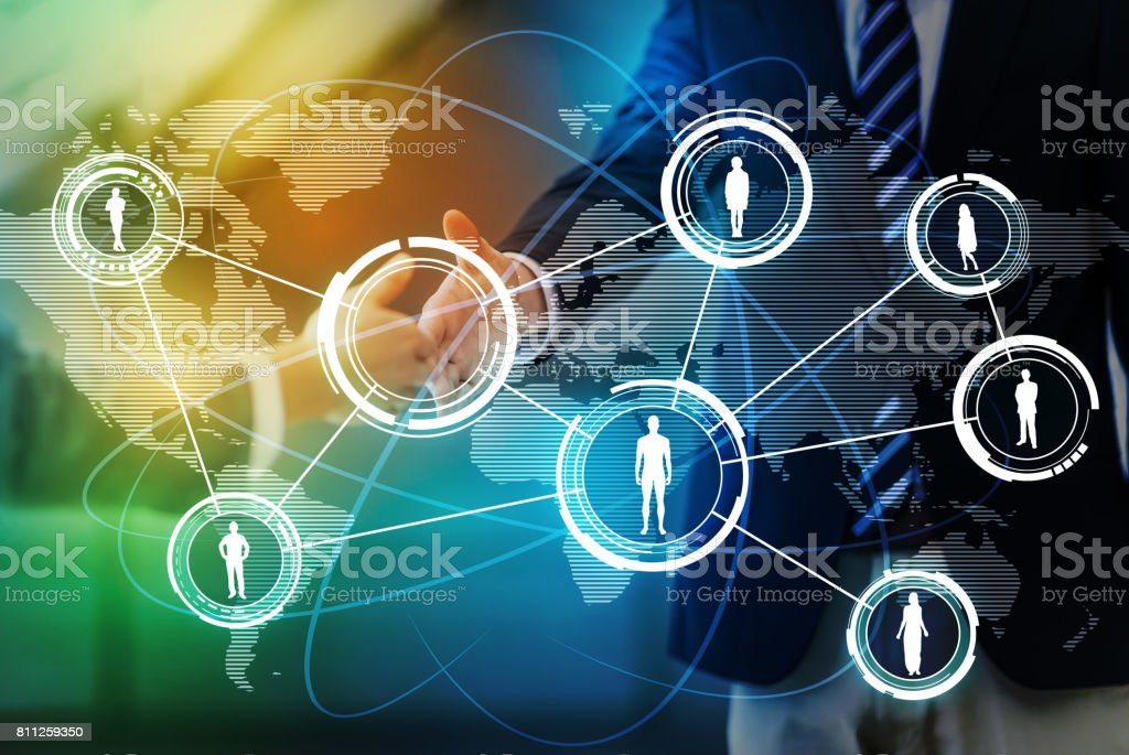 worldwide business network concept, social networking service, abstract image visual stock photo