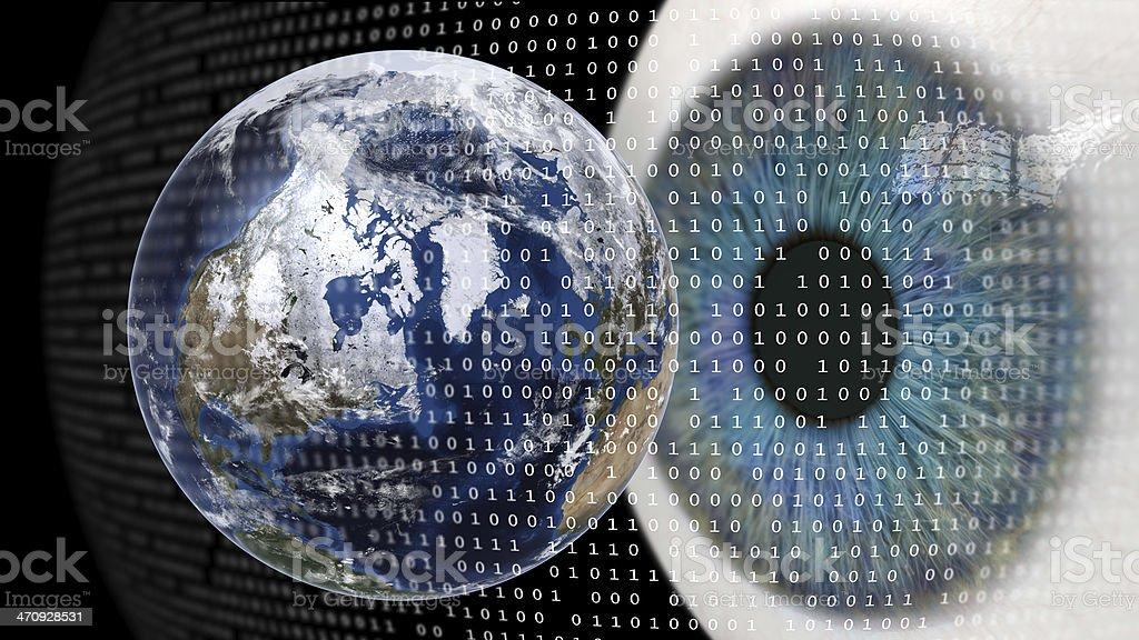 Worldwide Digital Surveillance stock photo