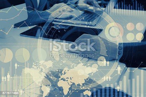 istock Worldwide marketing concept. 872677466