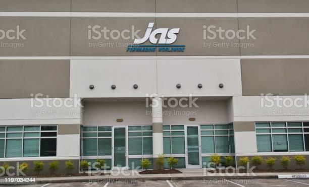 JAS Worldwide office exterior in Houston, TX.