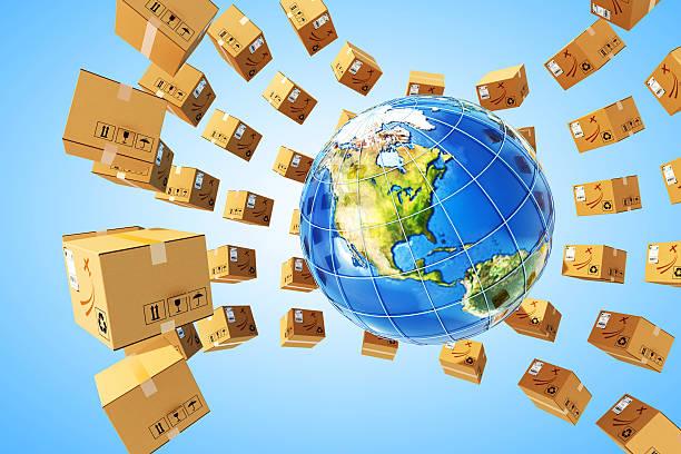 Worldwide Einkäufe Versand und Logistik-Konzept – Foto