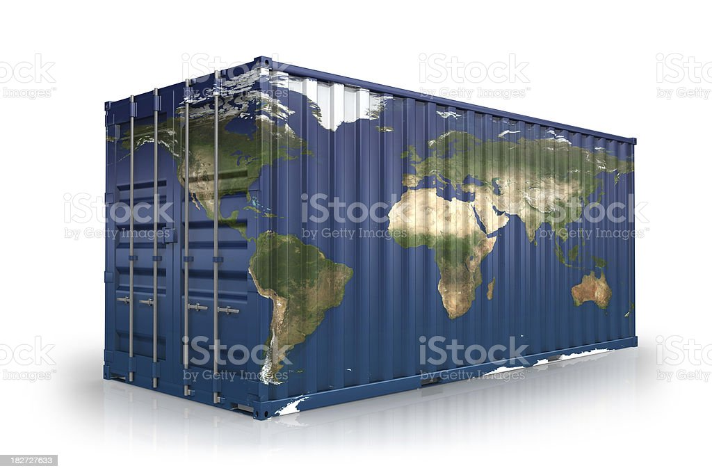 Worldwide Shipping Container royalty-free stock photo