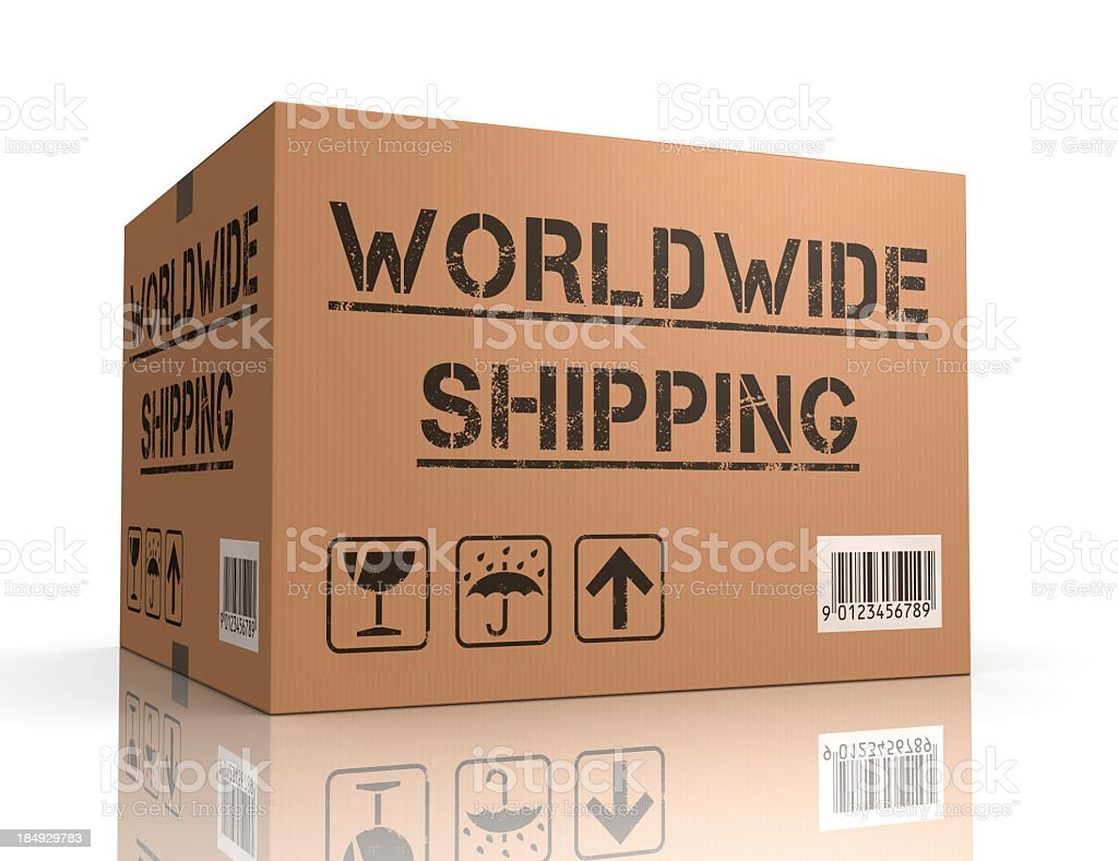 worldwide shipping royalty-free stock photo