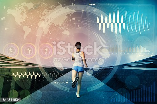 worldwide sports concept. sport technology abstract.