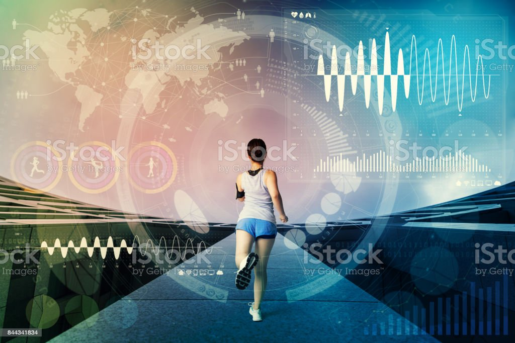 worldwide sports concept. sport technology abstract. stock photo