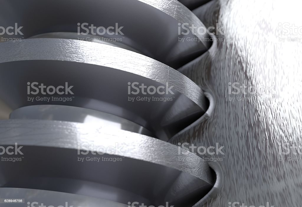 Worm drive pair of the gears. 3d illustration stock photo