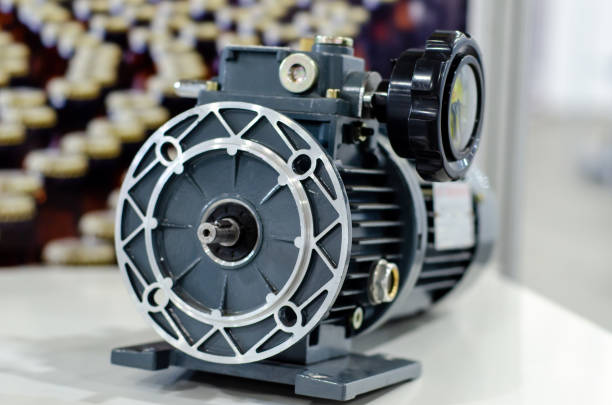 Worm gear reducers for sale. stock photo