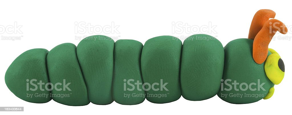 Worm made from clay royalty-free stock photo