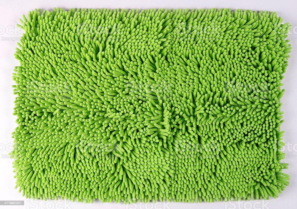 worm shaped bathroom floot mat stock photo