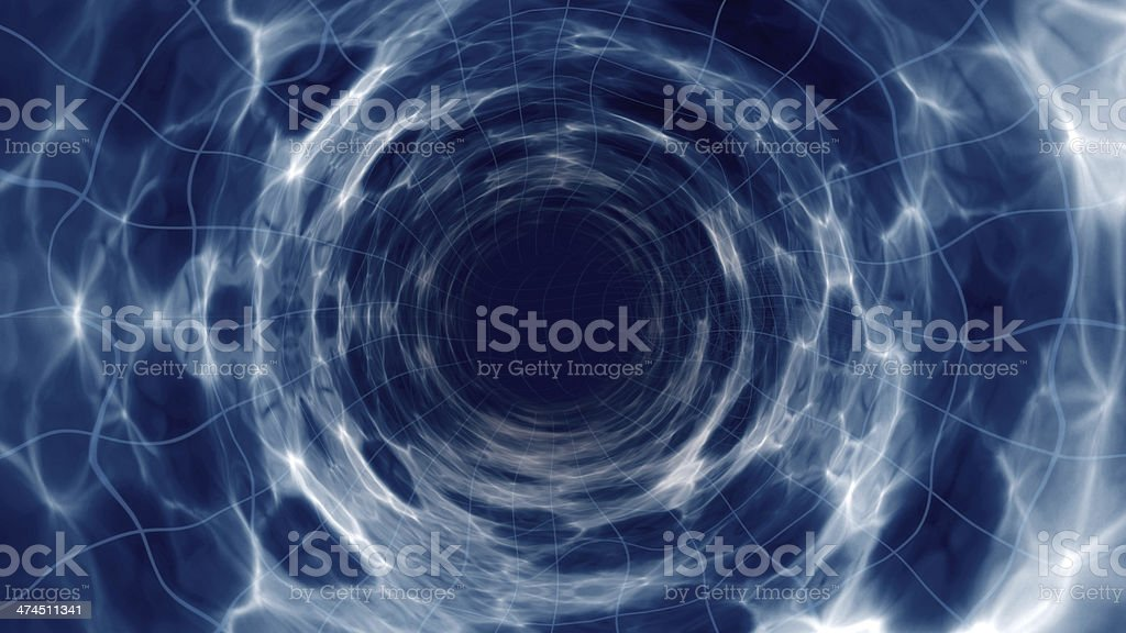Wormhole abstract for space time travel illustration stock photo
