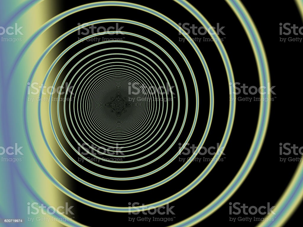 Wormhole fractal stock photo
