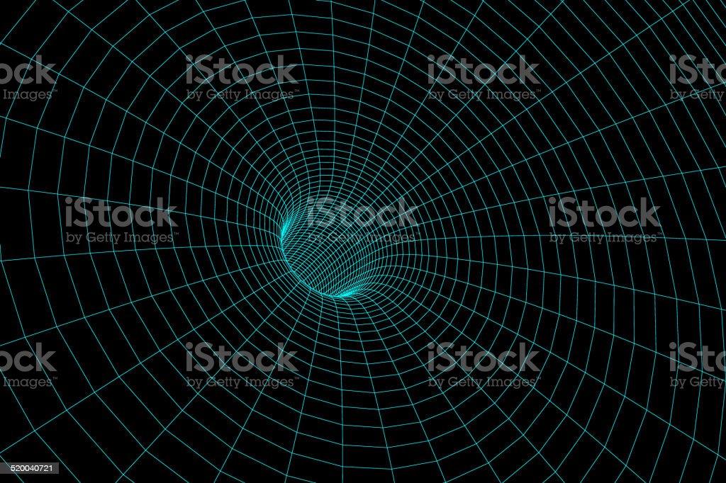 Wormhole model stock photo