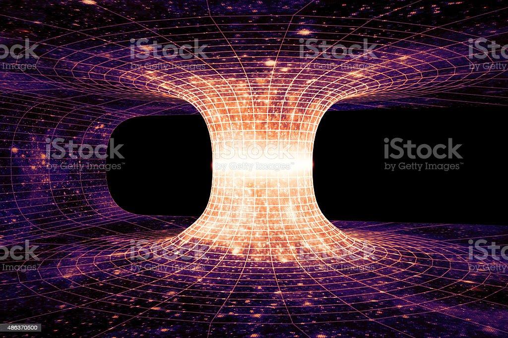 Wormhole stock photo