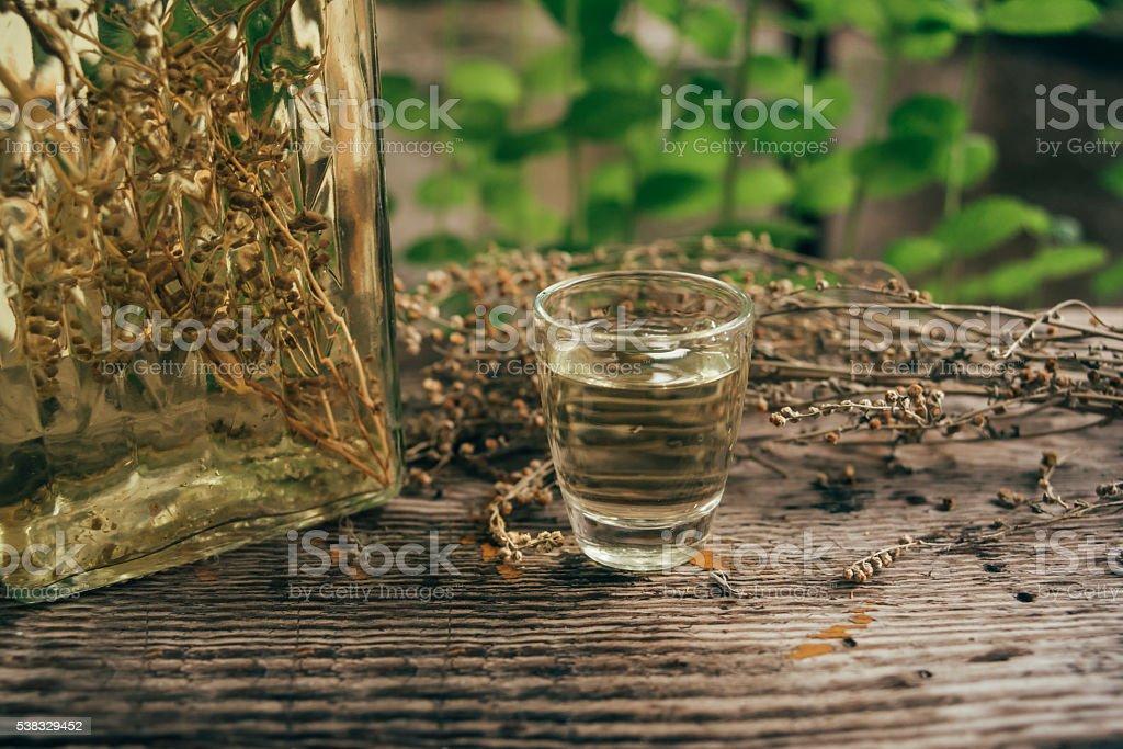 Wormwood drink stock photo
