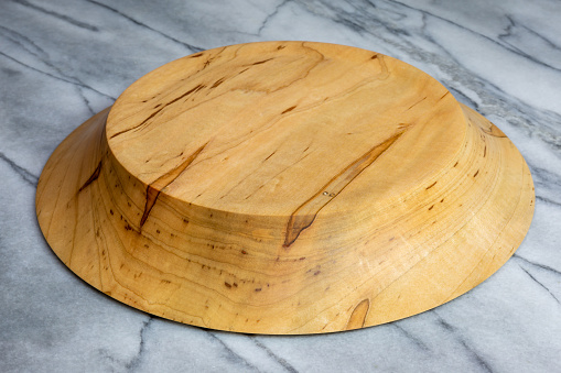 Wormy Maple Wood Bowl Hand Turned Stock Photo - Download Image Now