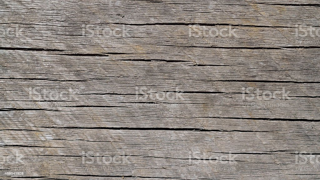 Worn and Weathered Horizontal Grained Wood Background stock photo