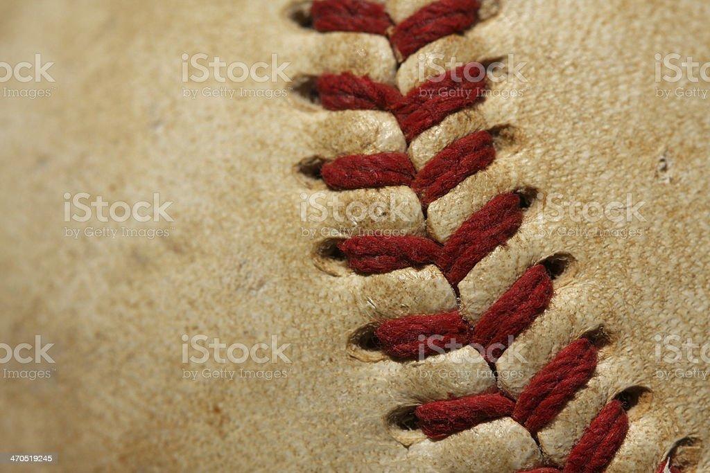 Worn Baseball Macro Close up royalty-free stock photo