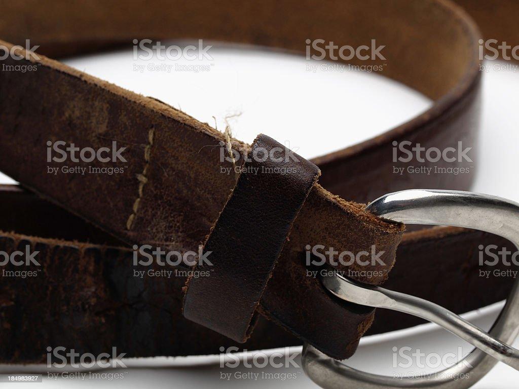 Worn Belt stock photo