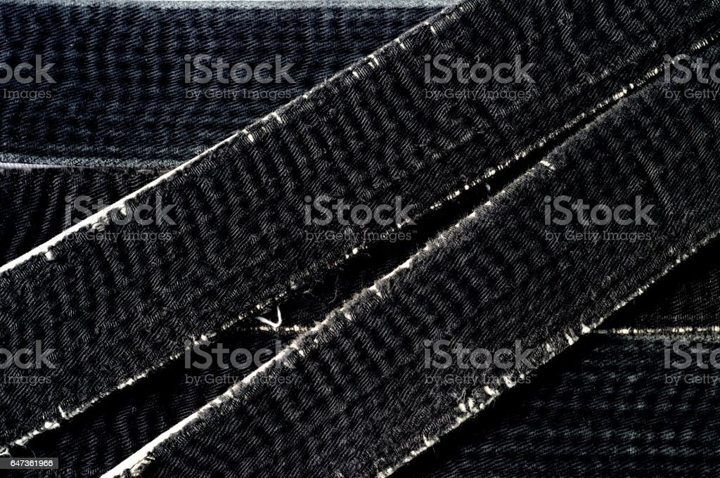 worn black belt martial arts master of Oriental stock photo