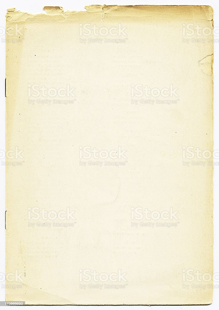 Worn Blank Booklet royalty-free stock photo