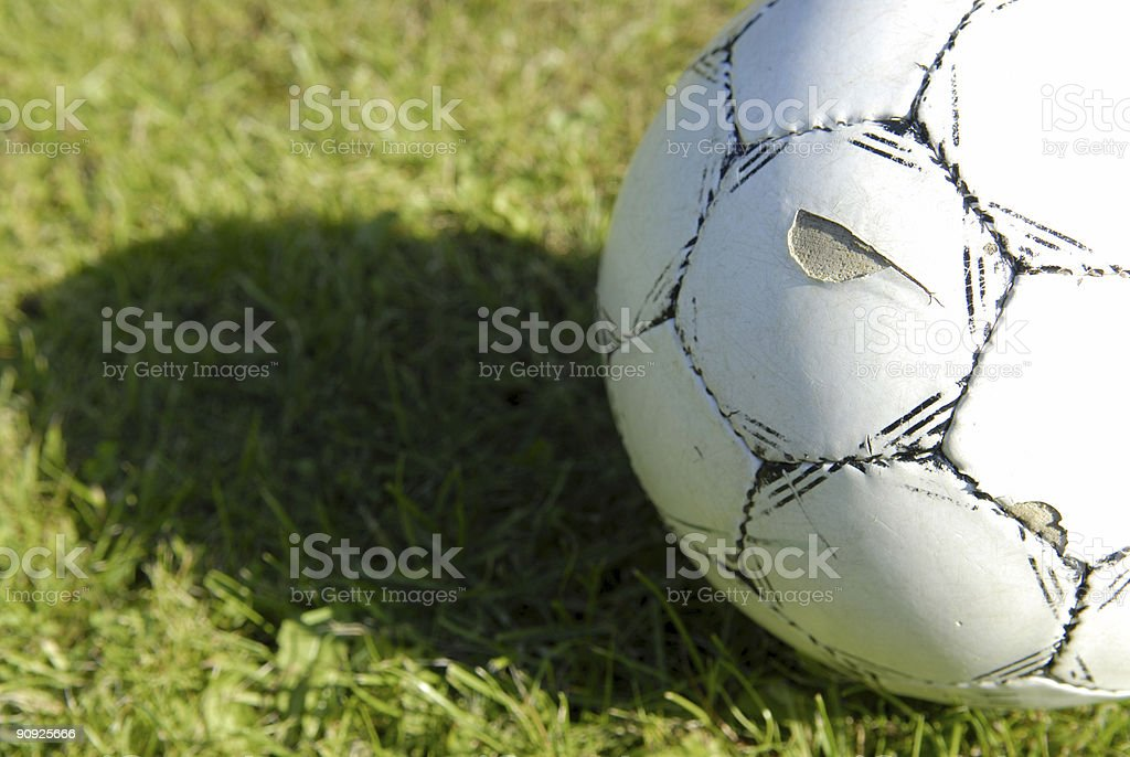 Worn football royalty-free stock photo