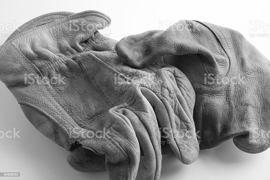 Worn Gloves 04 royalty-free stock photo