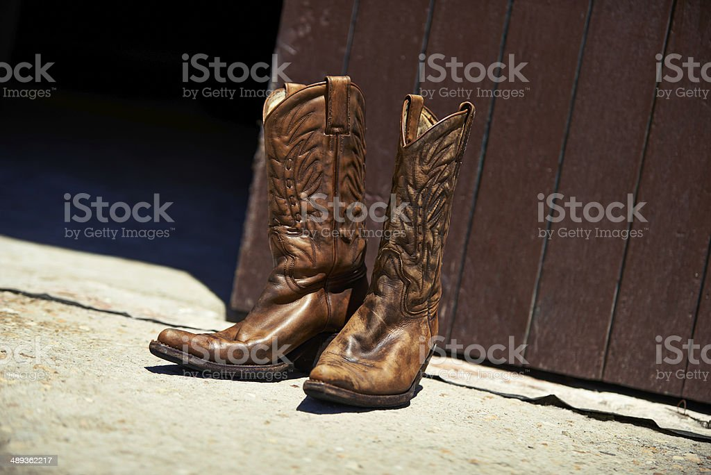 Worn in by hard work royalty-free stock photo