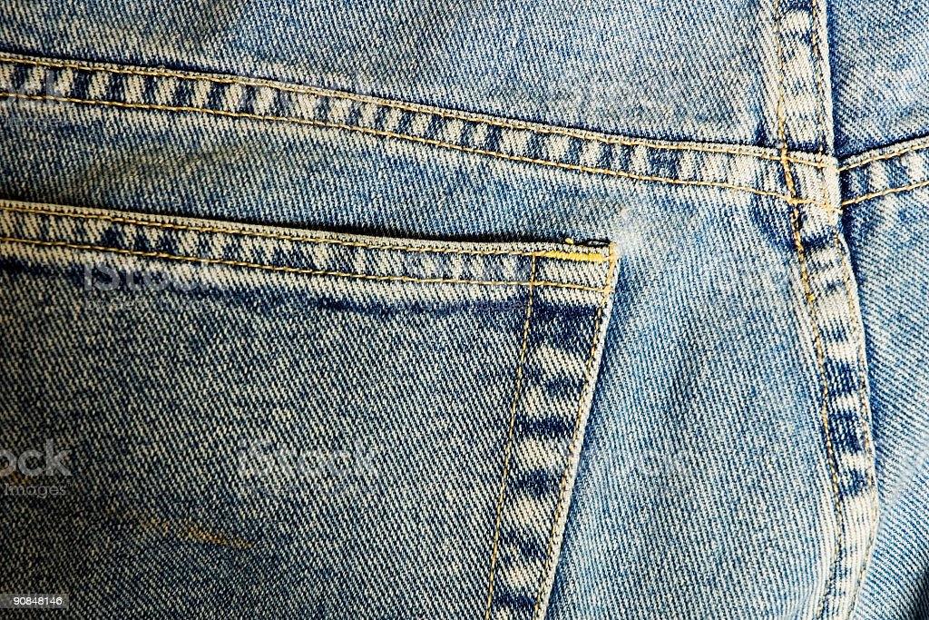 Worn Jeans royalty-free stock photo
