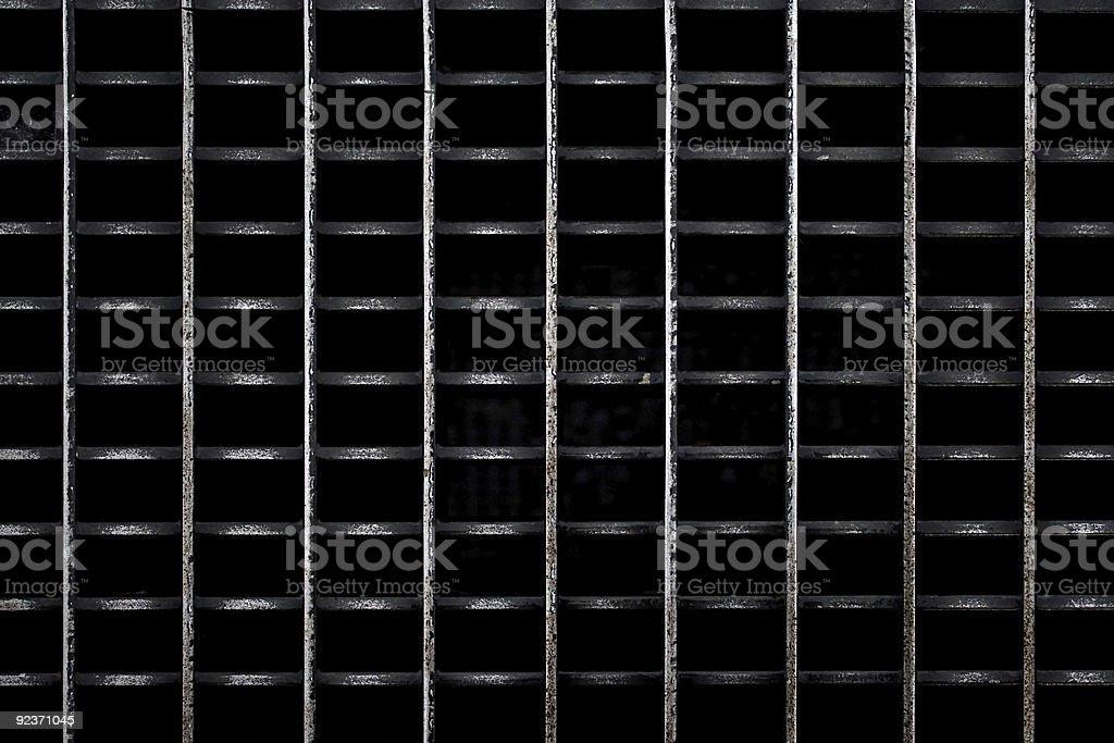 Getragen Metallgitter Lizenzfreies stock-foto